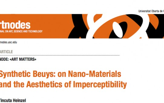 SYNTHETIC BEUYS : ON NANO - MATERIALS AND THE AESTHETICS OF IMPERCEPTIBILITY