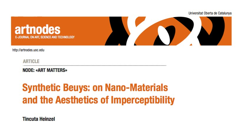 SYNTHETIC BEUYS : ON NANO – MATERIALS AND THE AESTHETICS OF IMPERCEPTIBILITY