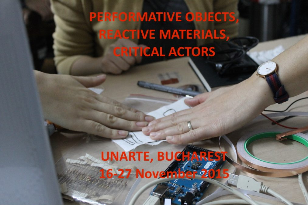 PERFORMATIVE OBJECTS, AUGMENTED MATERIALS, CRITICAL ACTORS.